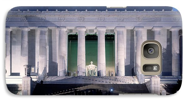 Lincoln Memorial Galaxy S7 Case - Lincoln Memorial At Dusk, Washington by Panoramic Images