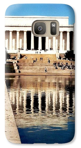 Galaxy Case featuring the photograph Lincoln Memorial by Daniel Thompson