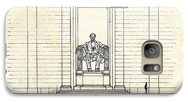 Lincoln Memorial Sketch Galaxy Case by Gary Bodnar