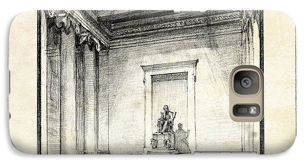 Lincoln Memorial Sketch IIi Galaxy Case by Gary Bodnar