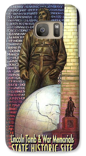 Galaxy Case featuring the painting Lincoln Tomb And War Memorials Street Banners Korean War Pilot by Jane Bucci