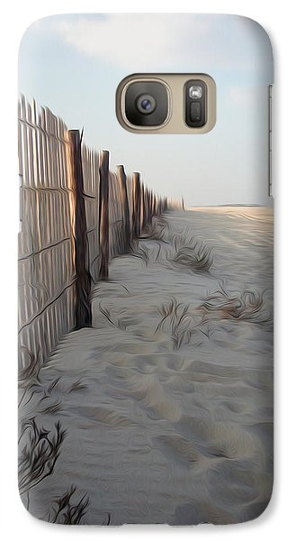 Galaxy Case featuring the digital art Line In The Sand by Kelvin Booker