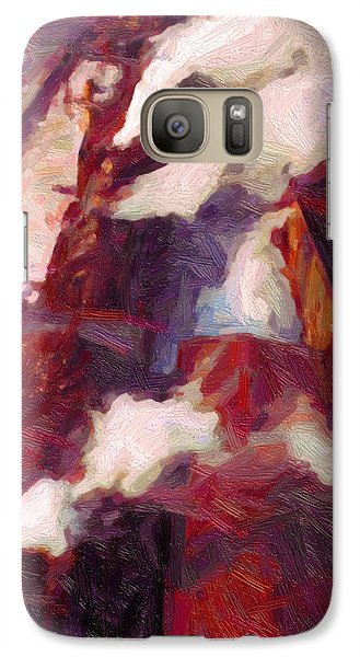 Galaxy Case featuring the digital art Line Up by Chuck Mountain