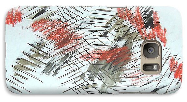 Galaxy Case featuring the painting Lines In Movement by Esther Newman-Cohen