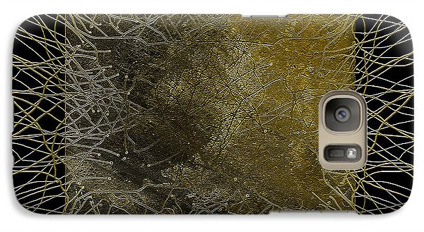 Galaxy Case featuring the digital art Lines Of Age by Constance Krejci