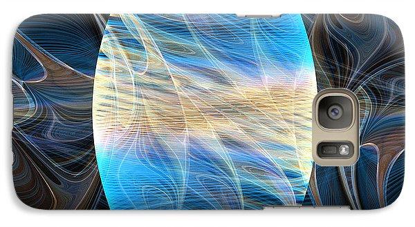 Galaxy Case featuring the digital art Lingam Stone by Lea Wiggins