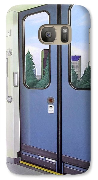 Galaxy Case featuring the painting Link Light Rail Seattle by Jude Labuszewski