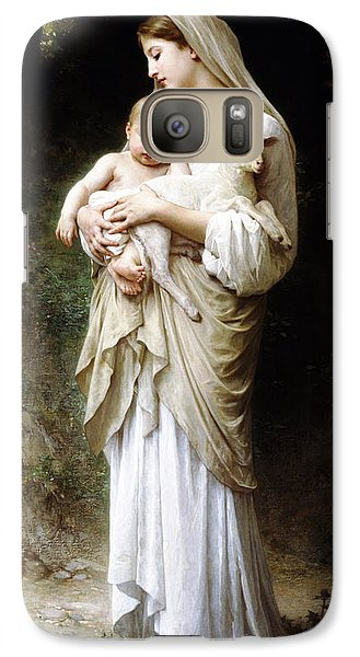 Galaxy Case featuring the digital art L'innocence By Bouguereau by Bouguereau