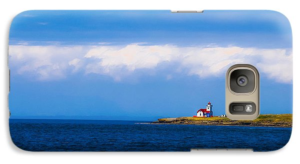 Galaxy Case featuring the photograph Light House In British Columbia by Craig Perry-Ollila