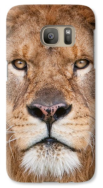 Galaxy Case featuring the photograph Lion Close Up by Jerry Fornarotto