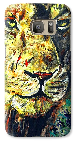 Galaxy Case featuring the painting Lion by Daniel Janda