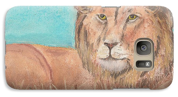 Galaxy Case featuring the pastel Lion by David Jackson