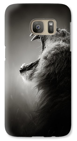 Lion Displaying Dangerous Teeth Galaxy S7 Case
