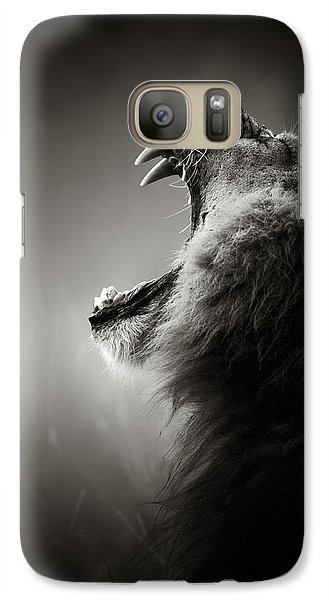 Animals Galaxy S7 Case - Lion Displaying Dangerous Teeth by Johan Swanepoel