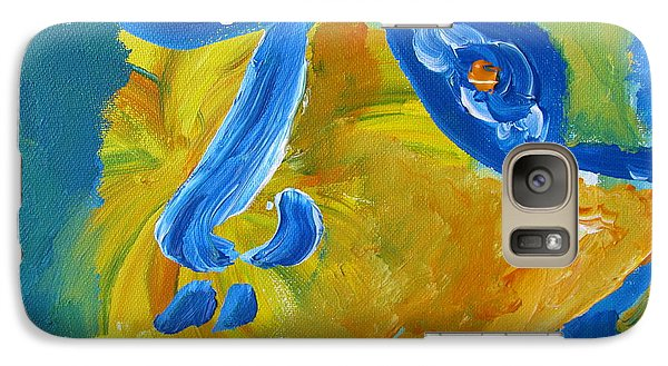 Galaxy Case featuring the painting Lion Eyes  by Shea Holliman