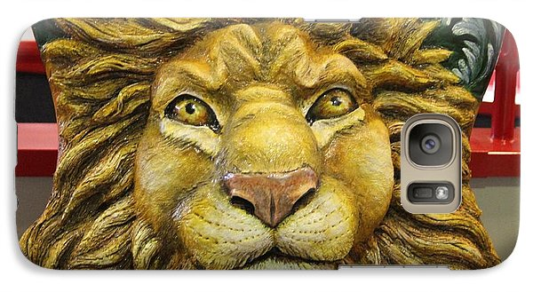 Galaxy Case featuring the photograph Lion Face Guitar by Cynthia Snyder