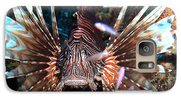Galaxy Case featuring the photograph Lion Fish - En Garde by Amy McDaniel