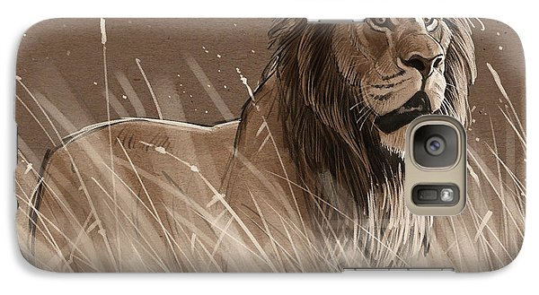 Lion In The Grass Galaxy S7 Case by Aaron Blaise
