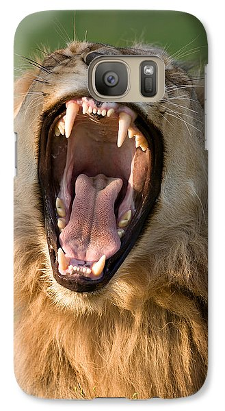 Bass Galaxy S7 Case - Lion by Johan Swanepoel