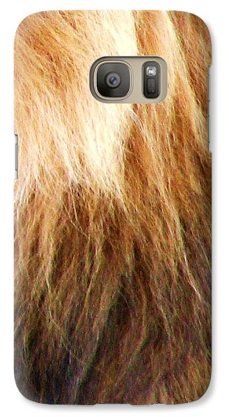 Galaxy Case featuring the photograph Lion Mane by Cleaster Cotton