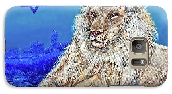 Galaxy Case featuring the painting Lion Of Judah - Jerusalem by Bob and Nadine Johnston