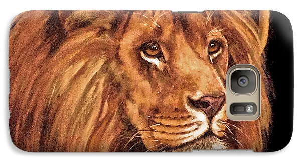 Galaxy Case featuring the painting Lion Of Judah - Menorah by Bob and Nadine Johnston