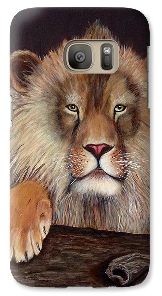 Galaxy Case featuring the painting Lion by Renate Voigt