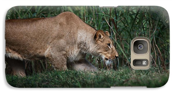 Galaxy Case featuring the photograph Lioness Stalking by Joseph G Holland