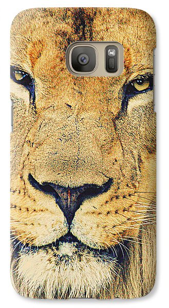 Galaxy Case featuring the photograph Lion's Stare by Ruth Jolly