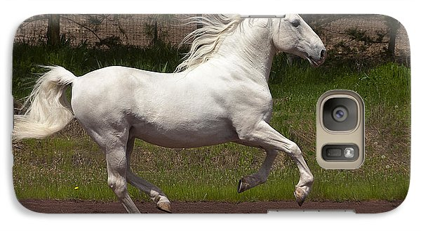 Galaxy Case featuring the photograph Lipizzan At Liberty D5809 by Wes and Dotty Weber