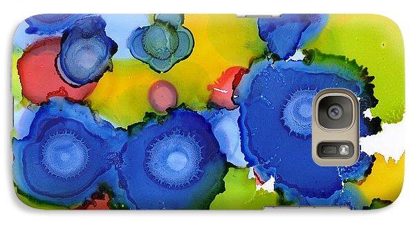 Galaxy Case featuring the painting Liquid Blue Bonnets by Yolanda Koh