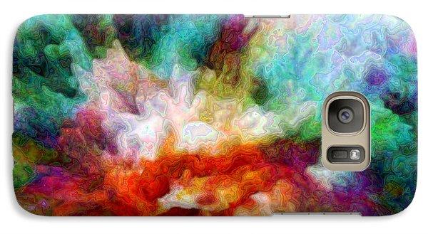 Galaxy Case featuring the digital art Liquid Colors - Enamel Edition by Lilia D