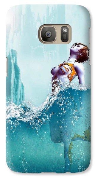Galaxy Case featuring the digital art Liquid Fantasy by Sandra Bauser Digital Art