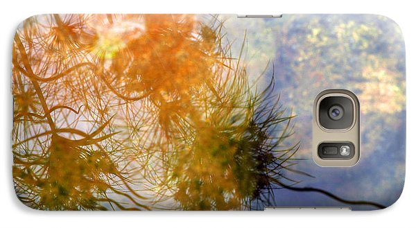Galaxy Case featuring the photograph Liquid Light Stone by Allen Carroll