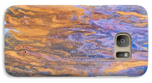 Galaxy Case featuring the painting Liquid Summer by Donna Dixon