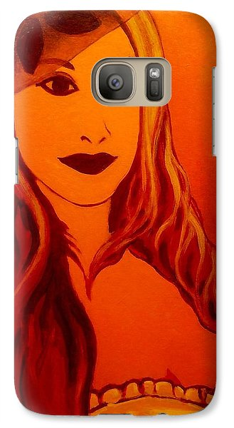 Lisa Darling II - The Irish Burlesque School Galaxy S7 Case by John  Nolan