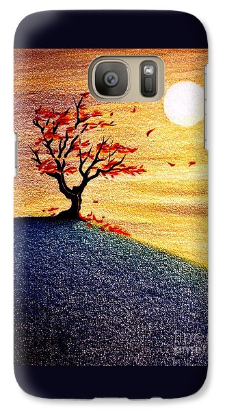 Galaxy Case featuring the drawing Little Autumn Tree by Danielle R T Haney