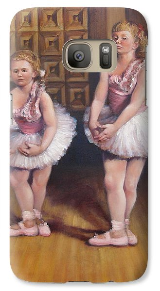 Galaxy Case featuring the painting Little Ballerinas  by Donelli  DiMaria