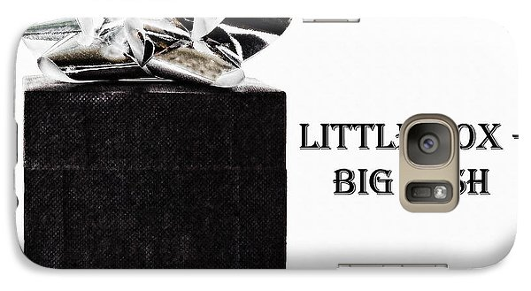 Galaxy Case featuring the photograph Black Present With A Silver Bow by Vizual Studio