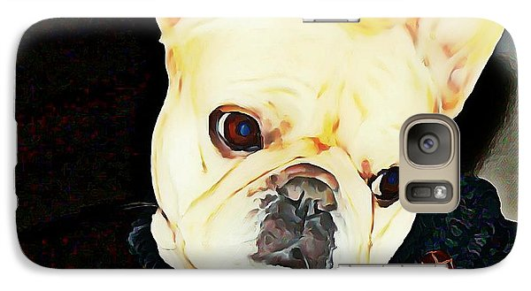 Galaxy Case featuring the painting Little Black Sweater by Barbara Chichester