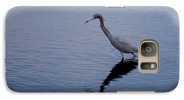 Galaxy Case featuring the photograph Little Blue Heron On The Hunt by John M Bailey