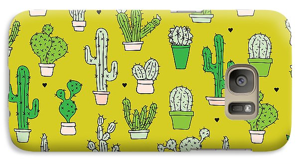 Little Cactus Botanical Garden Galaxy S7 Case by Maaike Boot