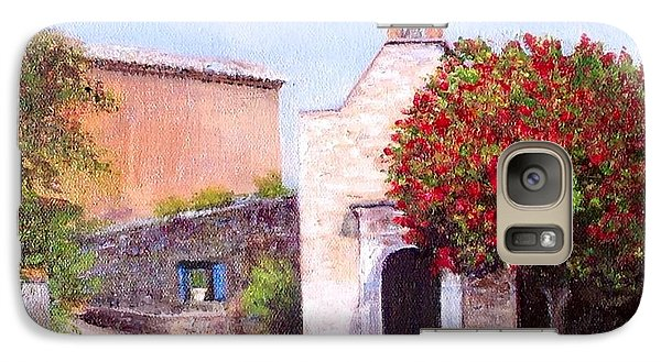 Galaxy Case featuring the painting Little Chapel France by Cindy Plutnicki