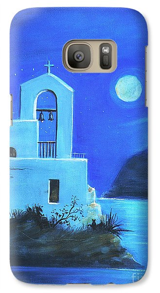 Galaxy Case featuring the painting Little Church By The Sea by S G
