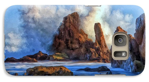 Galaxy Case featuring the painting Little Corona by Michael Pickett