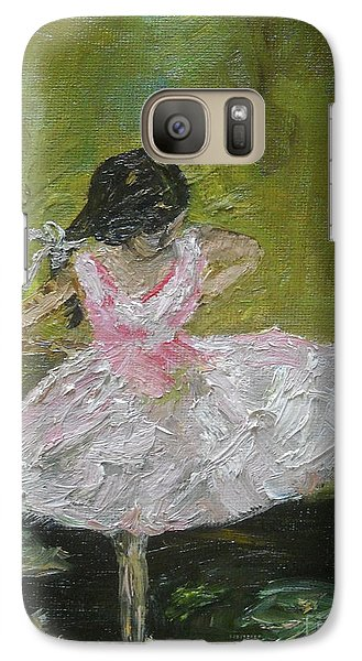 Galaxy Case featuring the painting Little Dansarina by Reina Resto