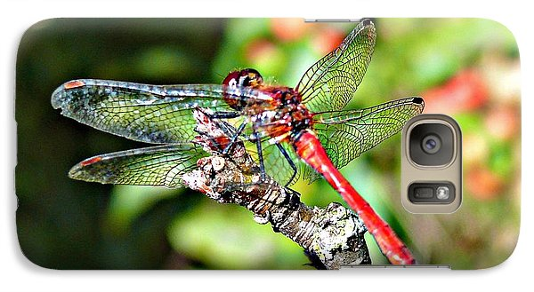 Galaxy Case featuring the photograph Little Dragonfly by Morag Bates