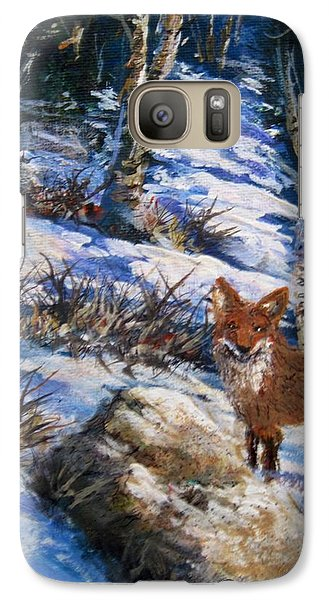 Galaxy Case featuring the painting Little Fox by Megan Walsh