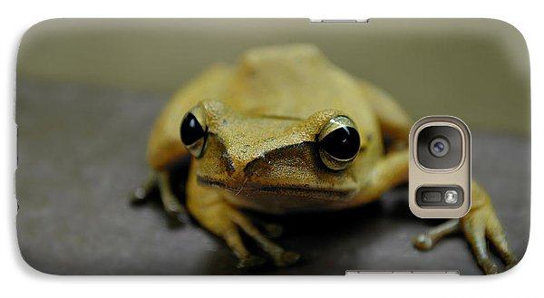Galaxy Case featuring the photograph Little Frog by Michelle Meenawong