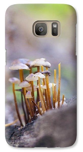 Galaxy Case featuring the photograph Little Fungi World by David Isaacson